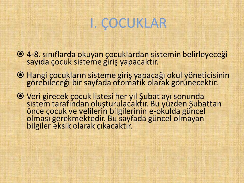 I. ÇOCUKLAR  4-8.