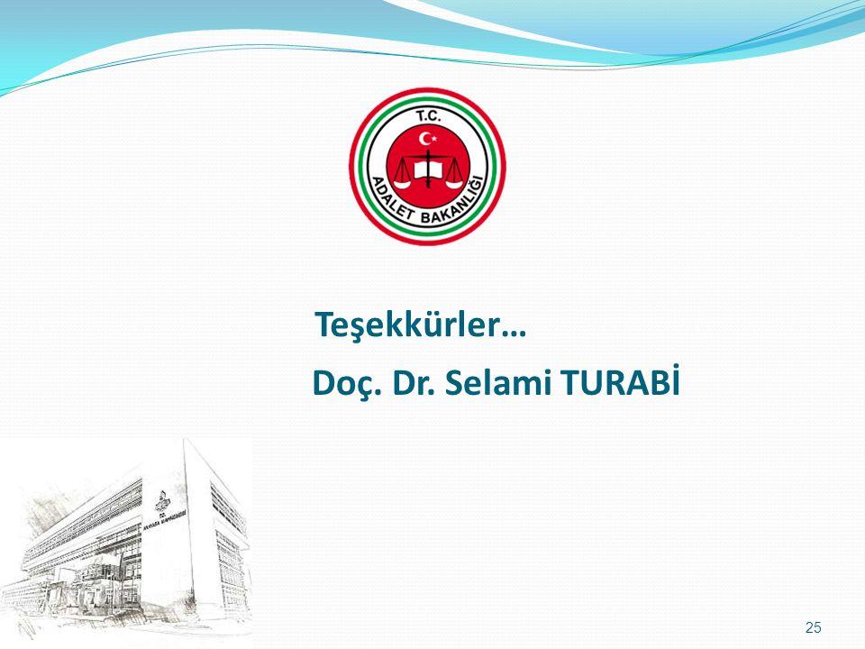 Doç. Dr. Selami TURABİ Teşekkürler… 25