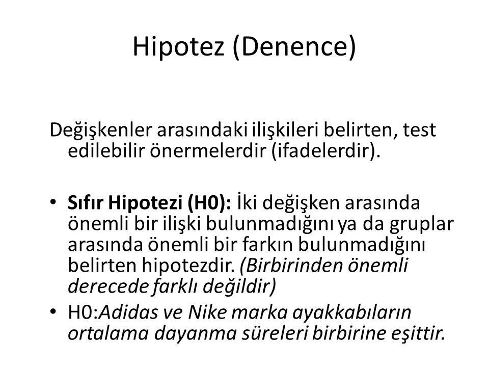 Alternatif Hipotez: İki değişken arasında önemli bir ilişki bulunduğunu ya da gruplar arasında önemli bir fark olduğunu belirten hipotezlerdir.