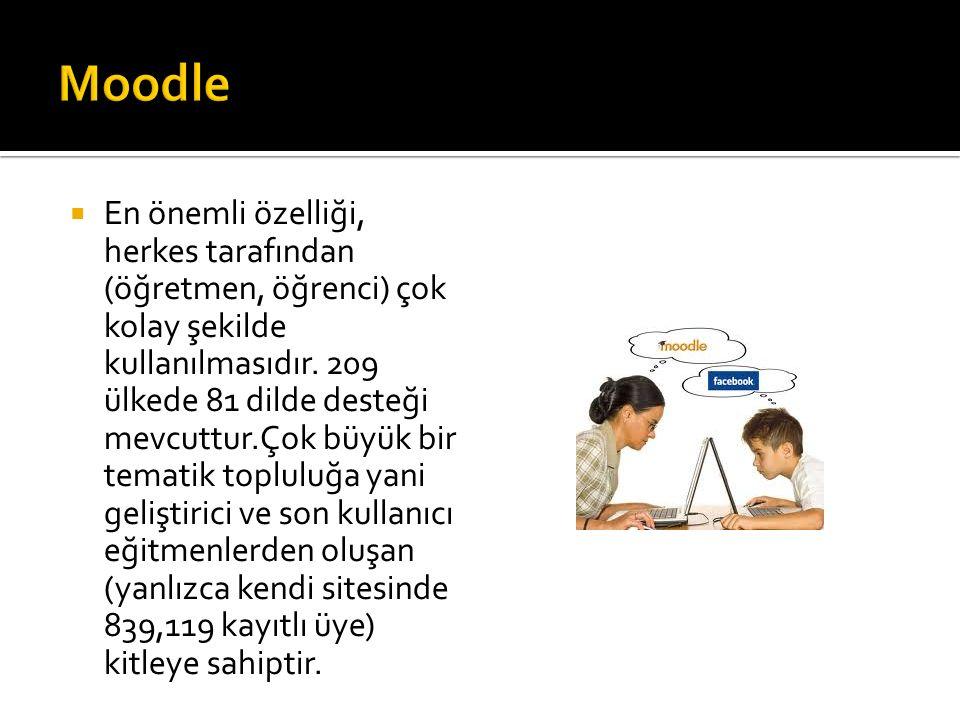  En önemli özelliği, herkes tarafından (öğretmen, öğrenci) çok kolay şekilde kullanılmasıdır.