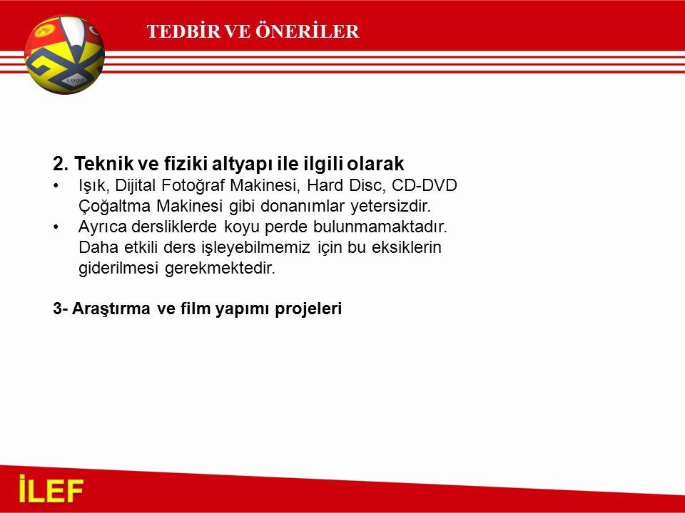 TEDBİR VE ÖNERİLER 2.