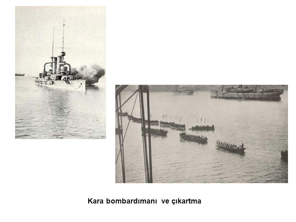 Kara bombardımanı ve çıkartma