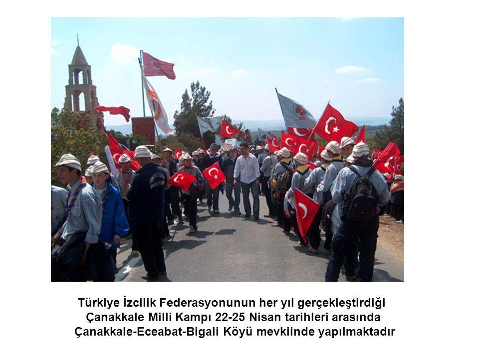 Türkiye İzcilik Federasyonunun her yıl gerçekleştirdiği Çanakkale Milli Kampı 22-25 Nisan tarihleri arasında Çanakkale-Eceabat-Bigali Köyü mevkiinde yapılmaktadır