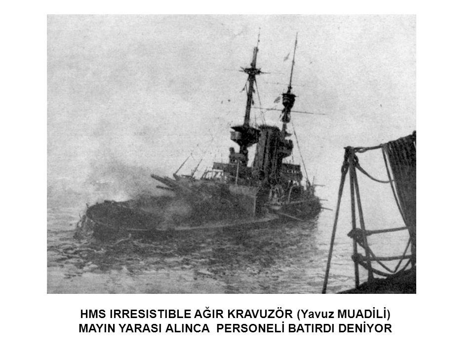 HMS INVINCIBLE AĞIR KRUVAZÖR MAYIN YARASI VE IKI TOP İSABETİ ALDI 2000 TON SU ALDI HAREKAT DIŞI KALDI