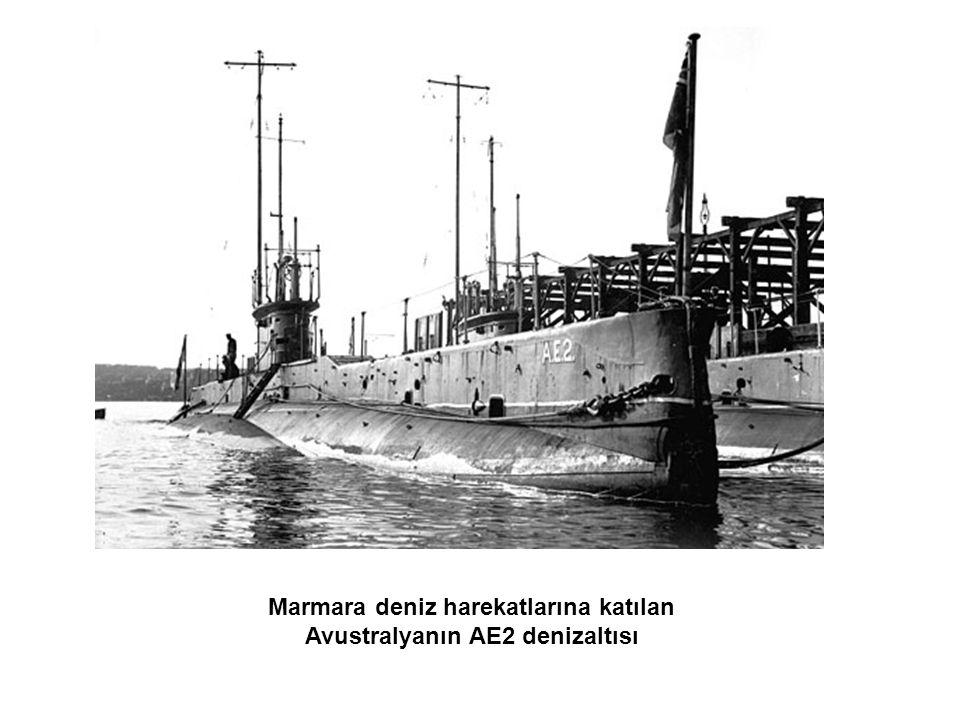 Marmara deniz harekatlarına katılan Avustralyanın AE2 denizaltısı