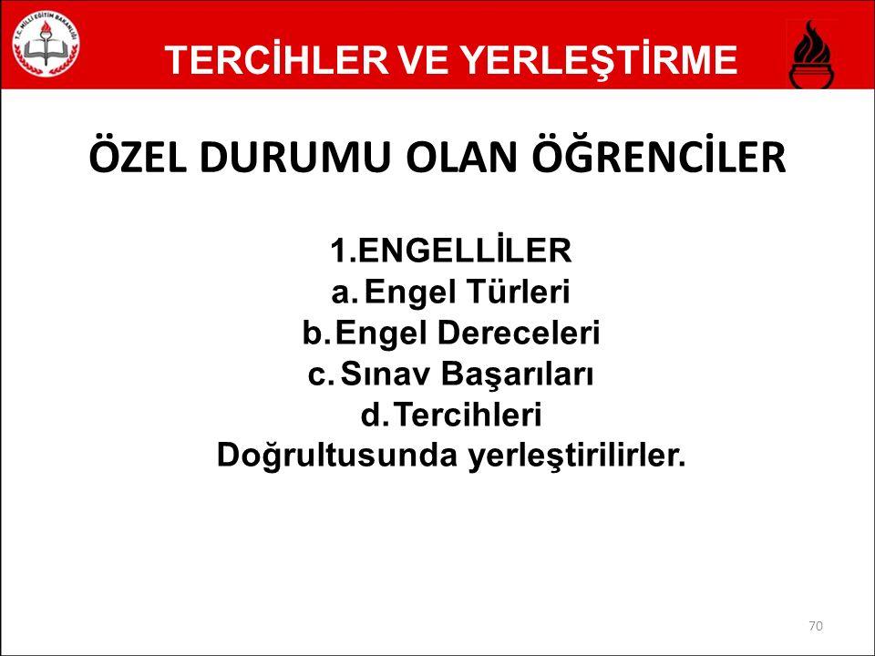 TERCİHLER VE YERLEŞTİRME 2.