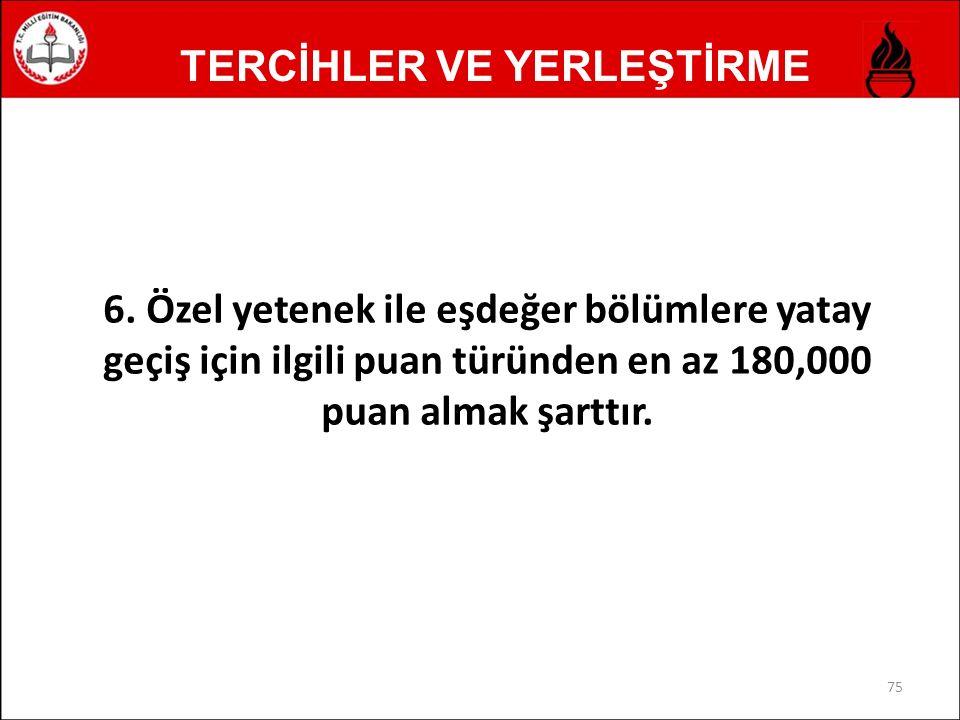 TERCİHLER VE YERLEŞTİRME 6.