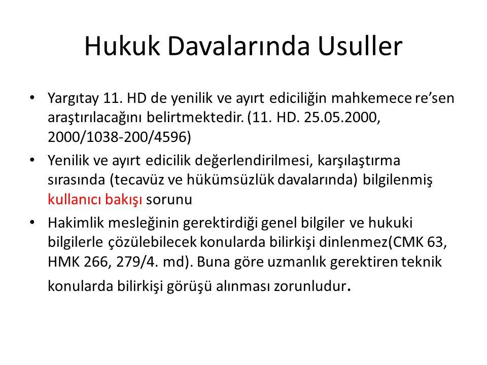 Hukuk Davalarında Usuller Yargıtay 11.