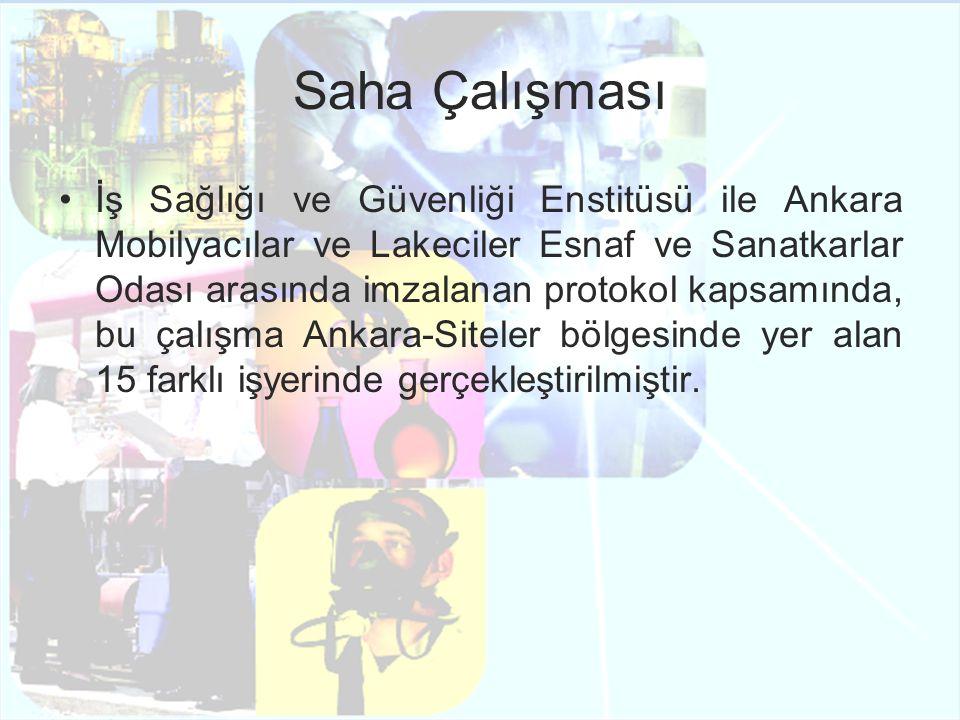 Saha Çalışması İş Sağlığı ve Güvenliği Enstitüsü ile Ankara Mobilyacılar ve Lakeciler Esnaf ve Sanatkarlar Odası arasında imzalanan protokol kapsamınd