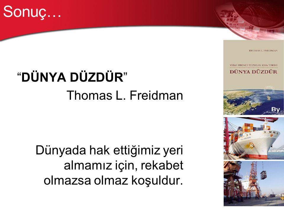 Sonuç… DÜNYA DÜZDÜR Thomas L.