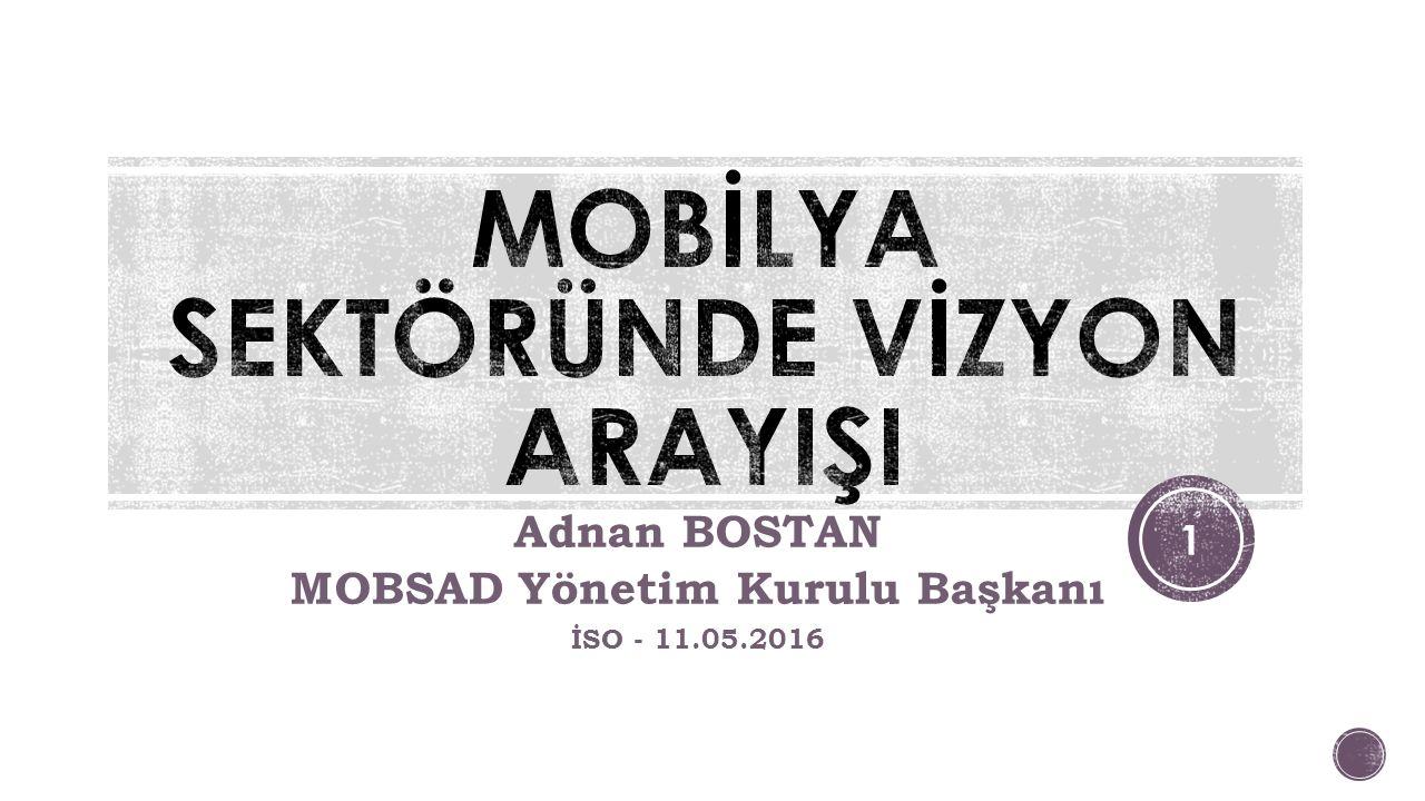 Adnan BOSTAN MOBSAD Yönetim Kurulu Başkanı İSO - 11.05.2016 1