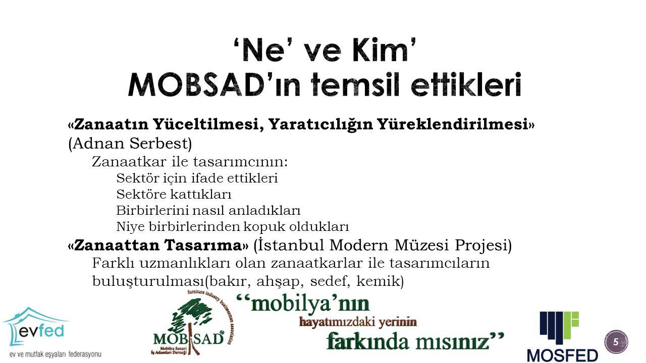 «Zanaatın Yüceltilmesi, Yaratıcılığın Yüreklendirilmesi» (Adnan Serbest) Zanaatkar ile tasarımcının: Sektör için ifade ettikleri Sektöre kattıkları Birbirlerini nasıl anladıkları Niye birbirlerinden kopuk oldukları «Zanaattan Tasarıma» (İstanbul Modern Müzesi Projesi) Farklı uzmanlıkları olan zanaatkarlar ile tasarımcıların buluşturulması(bakır, ahşap, sedef, kemik) 5