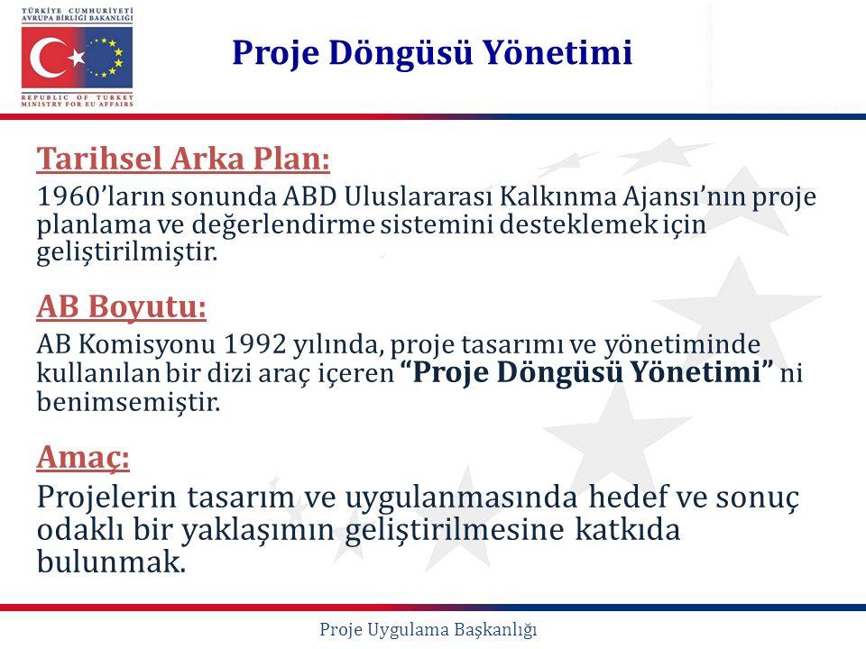 Tarihsel Arka Plan: 1960'ların sonunda ABD Uluslararası Kalkınma Ajansı'nın proje planlama ve değerlendirme sistemini desteklemek için geliştirilmişti