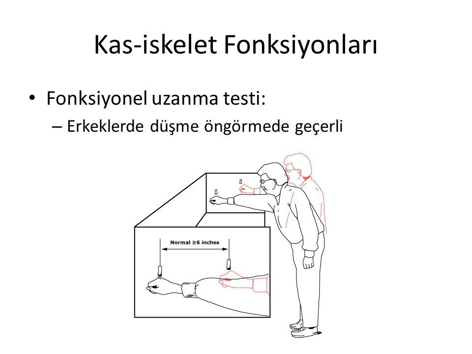 Fonksiyonel uzanma testi: – Erkeklerde düşme öngörmede geçerli Kas-iskelet Fonksiyonları