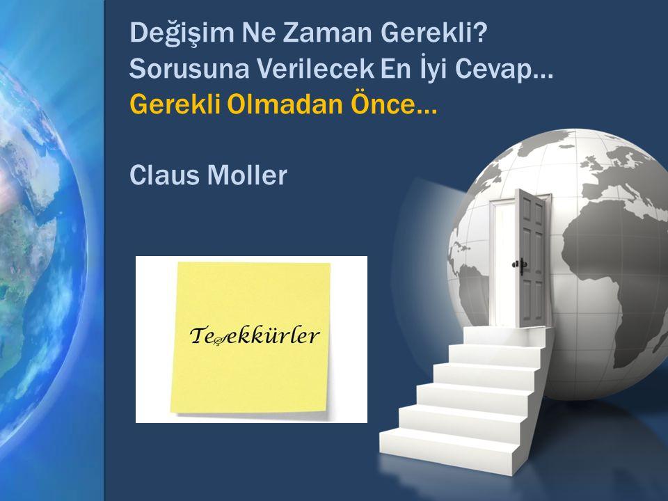 Değişim Ne Zaman Gerekli? Sorusuna Verilecek En İyi Cevap… Gerekli Olmadan Önce… Claus Moller