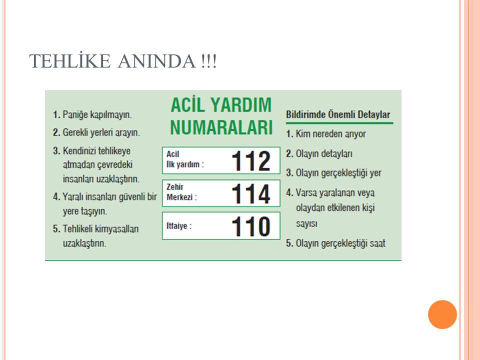 TEHLİKE ANINDA !!!