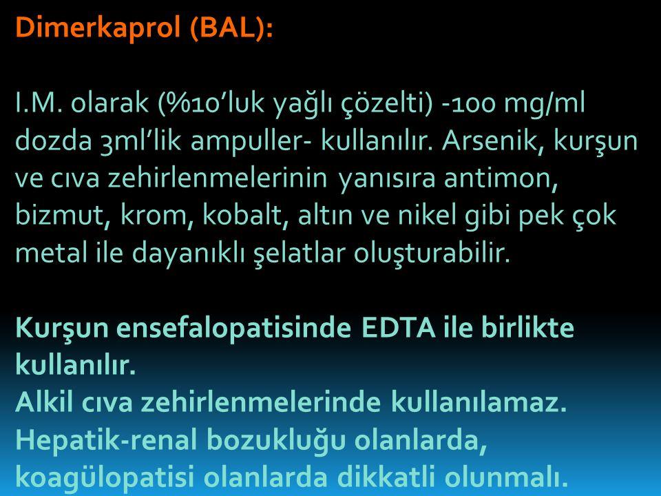 Dimerkaprol (BAL): I.M.