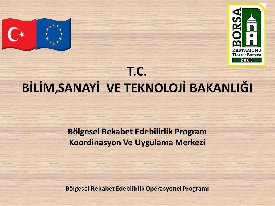 T.C. BİLİM,SANAYİ VE TEKNOLOJİ BAKANLIĞI Bölgesel Rekabet Edebilirlik Program Koordinasyon Ve Uygulama Merkezi Bölgesel Rekabet Edebilirlik Operasyone