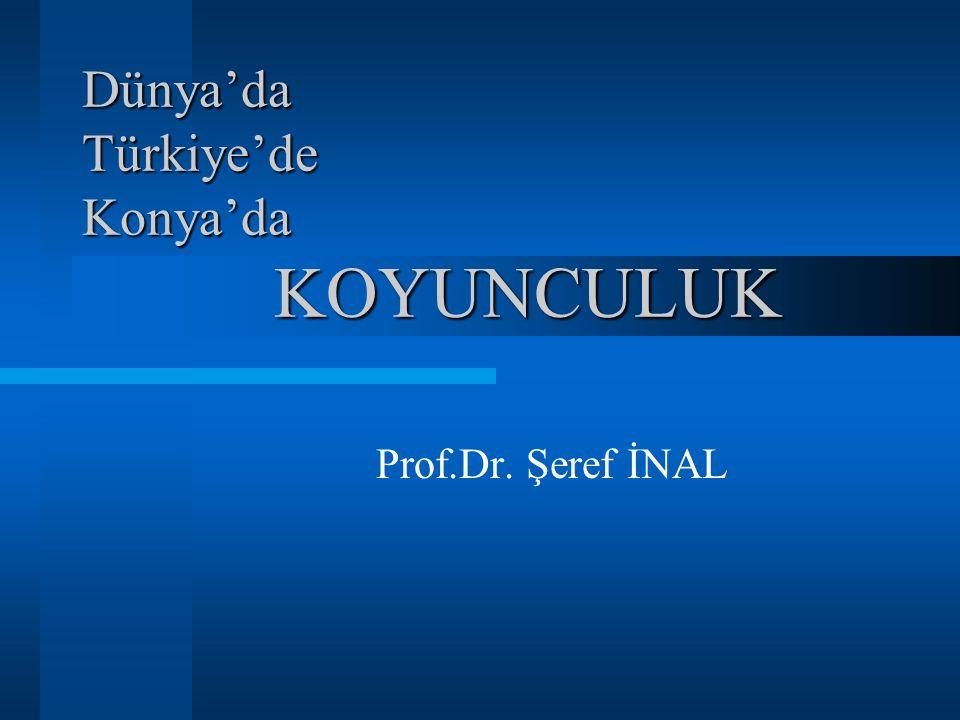 Dünya'da Türkiye'de Konya'da KOYUNCULUK Prof.Dr. Şeref İNAL