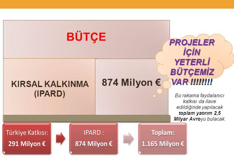 Bu rakama faydalanıcı katkısı da ilave edildiğinde yapılacak toplam yatırım 2,5 Milyar Avroyu bulacak.