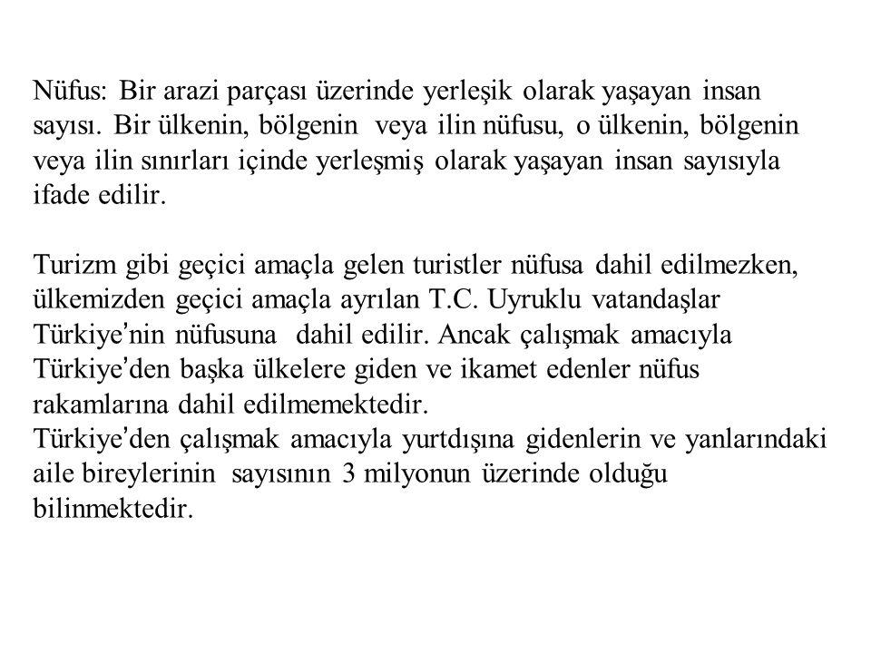 TÜRKİYE'DE DOĞUM-ÖLÜM ORANINDA YAŞANAN GELİŞMELER (binde)