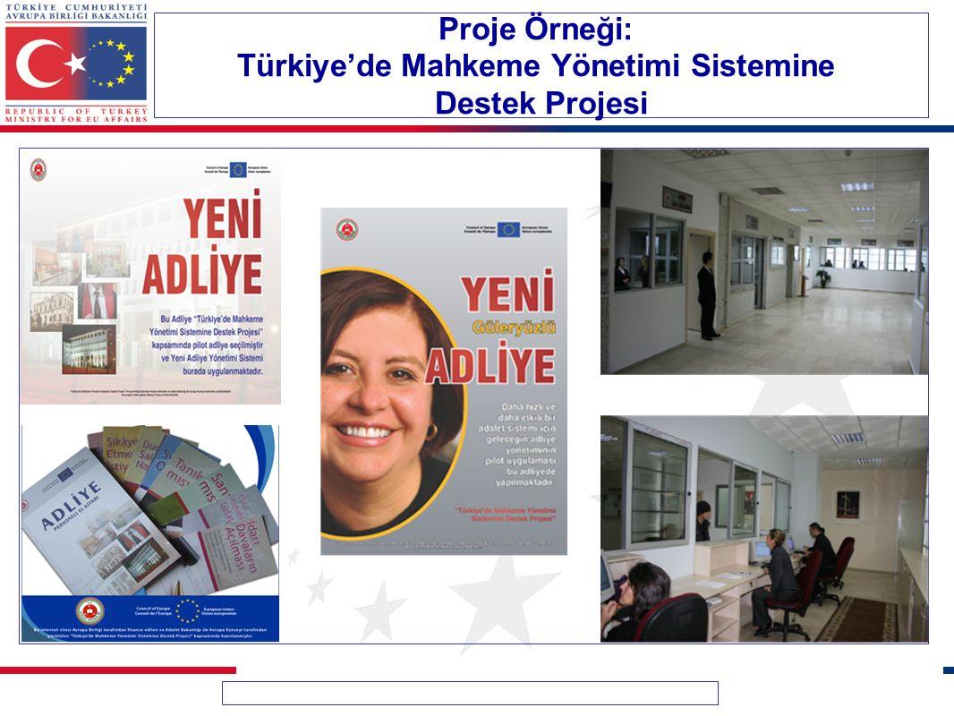 Proje Örneği: Türkiye'de Mahkeme Yönetimi Sistemine Destek Projesi