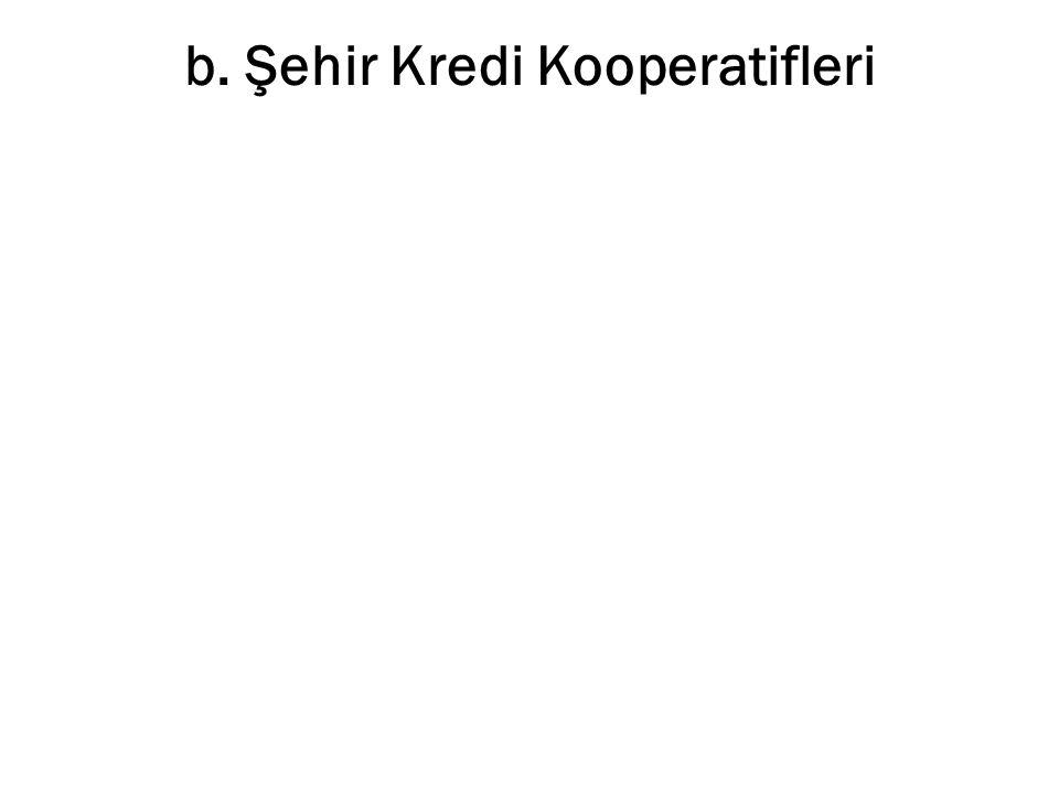 b. Şehir Kredi Kooperatifleri
