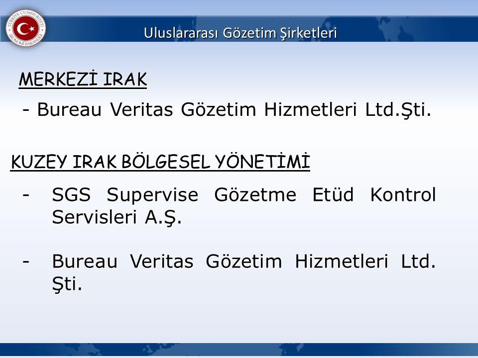 - Bureau Veritas Gözetim Hizmetleri Ltd.Şti.