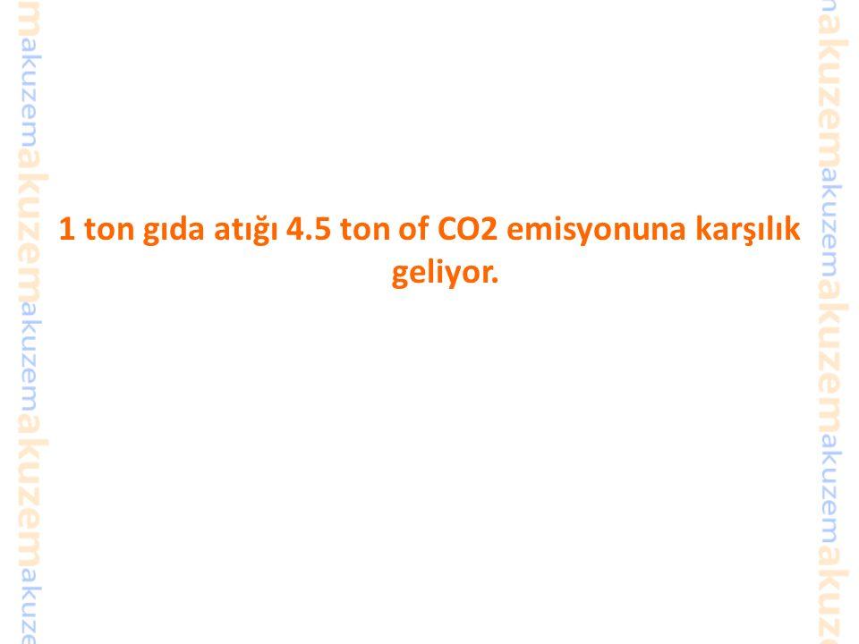 İsraf = Daha fazla kaynak tüketimi Daha az israf ne anlama geliyor? Daha az atık, çöp alanı Daha az toprak tüketilmesi Daha az gübre, tarım ilacı vb k
