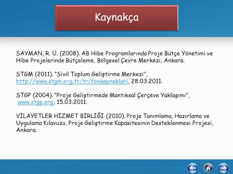 SAYMAN, R. Ü. (2008).