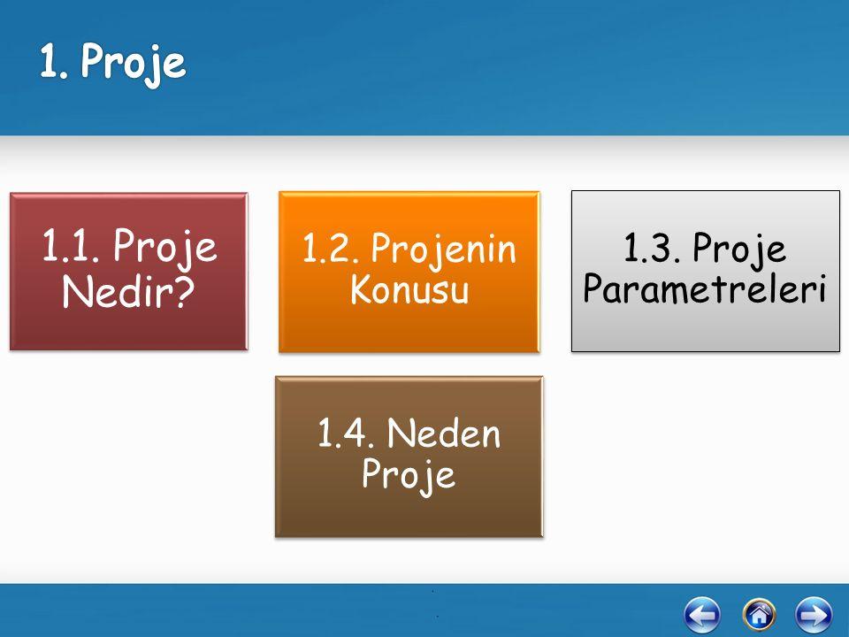 1.1. Proje Nedir. 1.1. Proje Nedir. 1.2. Projenin Konusu 1.2.