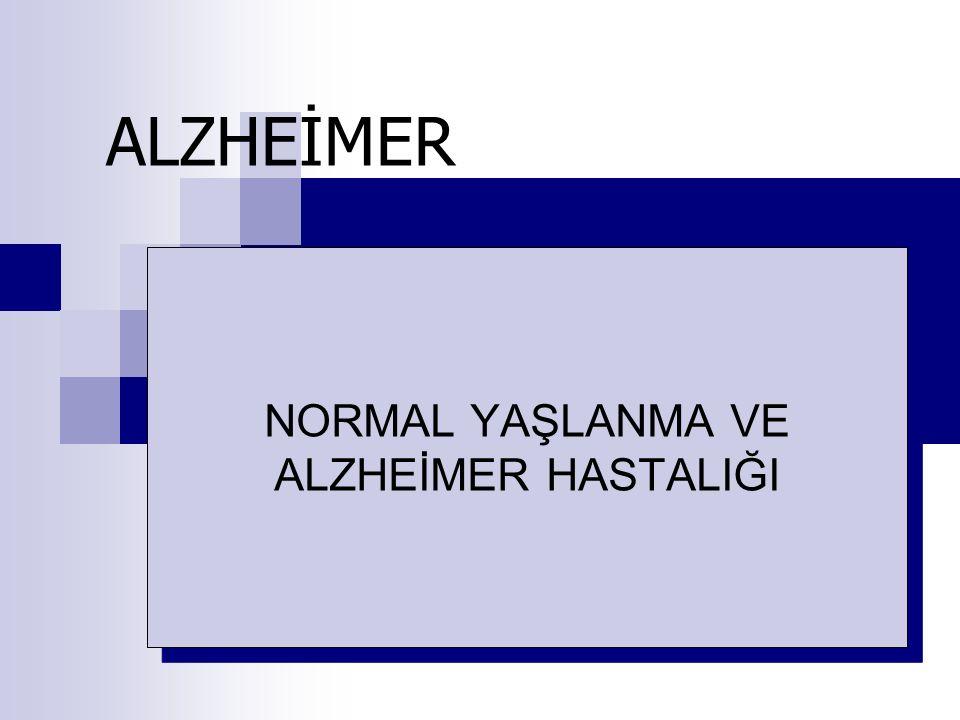 GİRİŞ Alzheimer hastalığı beyinde, özellikle de beyin hücreleri arasındaki iletişimde bozuklukla seyreden bir hastalıktır.