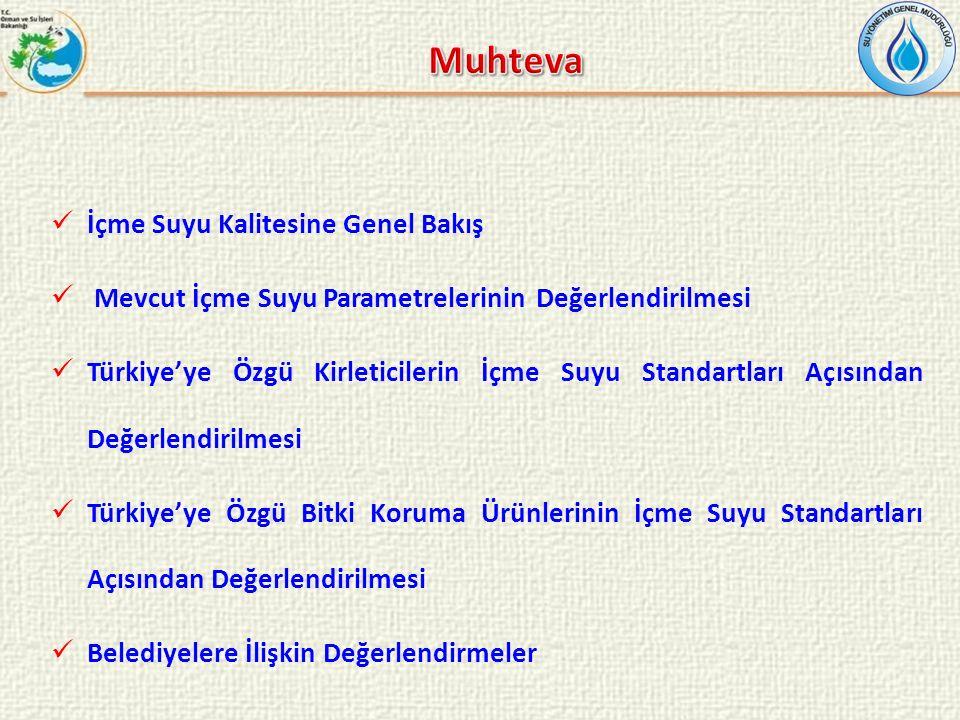 İçme Suyu Kalitesine Genel Bakış Mevcut İçme Suyu Parametrelerinin Değerlendirilmesi Türkiye'ye Özgü Kirleticilerin İçme Suyu Standartları Açısından D