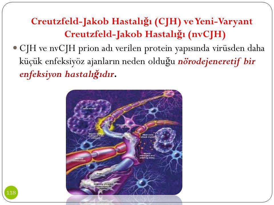 Creutzfeld-Jakob Hastalı ğ ı (CJH) ve Yeni-Varyant Creutzfeld-Jakob Hastalı ğ ı (nvCJH) CJH ve nvCJH prion adı verilen protein yapısında virüsden daha