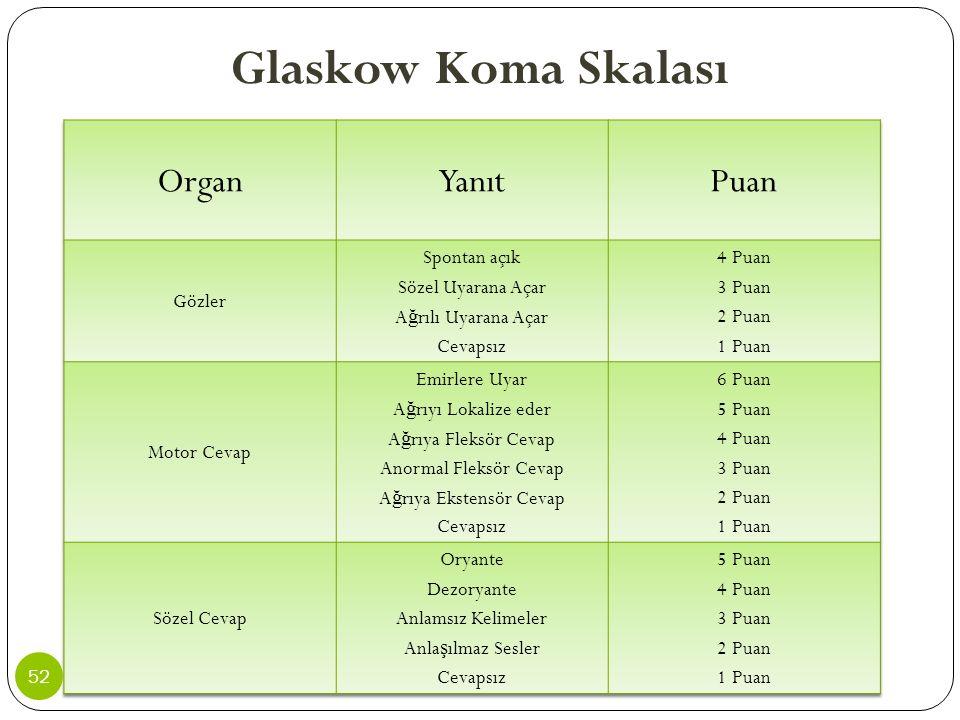 Glaskow Koma Skalası 52