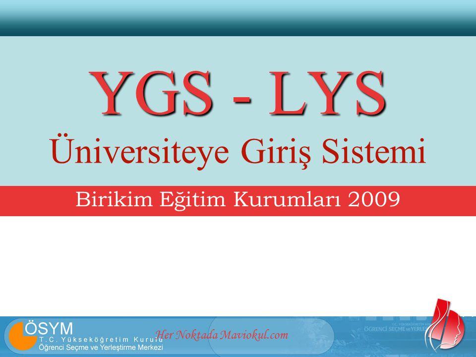Her Noktada Maviokul.com YGS - LYS YGS - LYS Üniversiteye Giriş Sistemi Birikim Eğitim Kurumları 2009