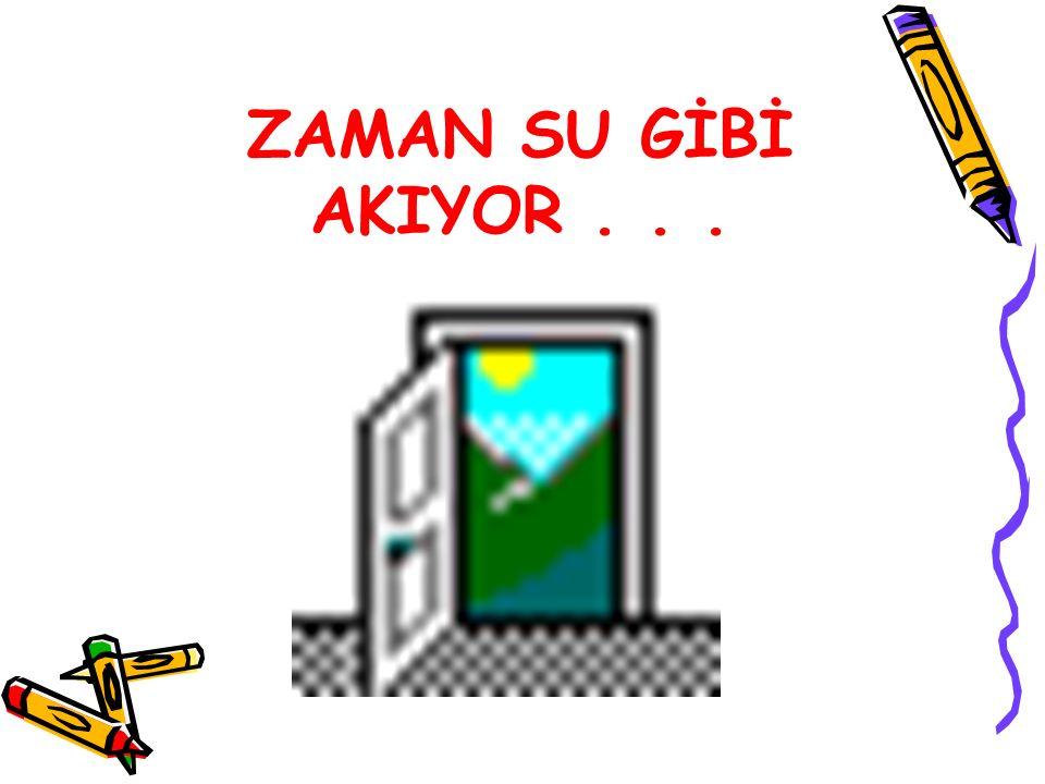 ZAMAN SU GİBİ AKIYOR...