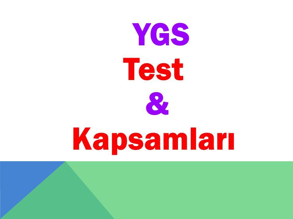 YGS Test & Kapsamları