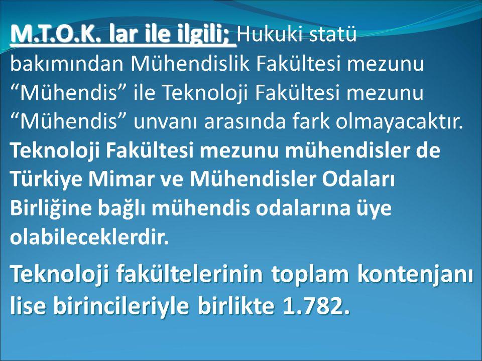 M.T.O.K. lar ile ilgili; M.T.O.K.