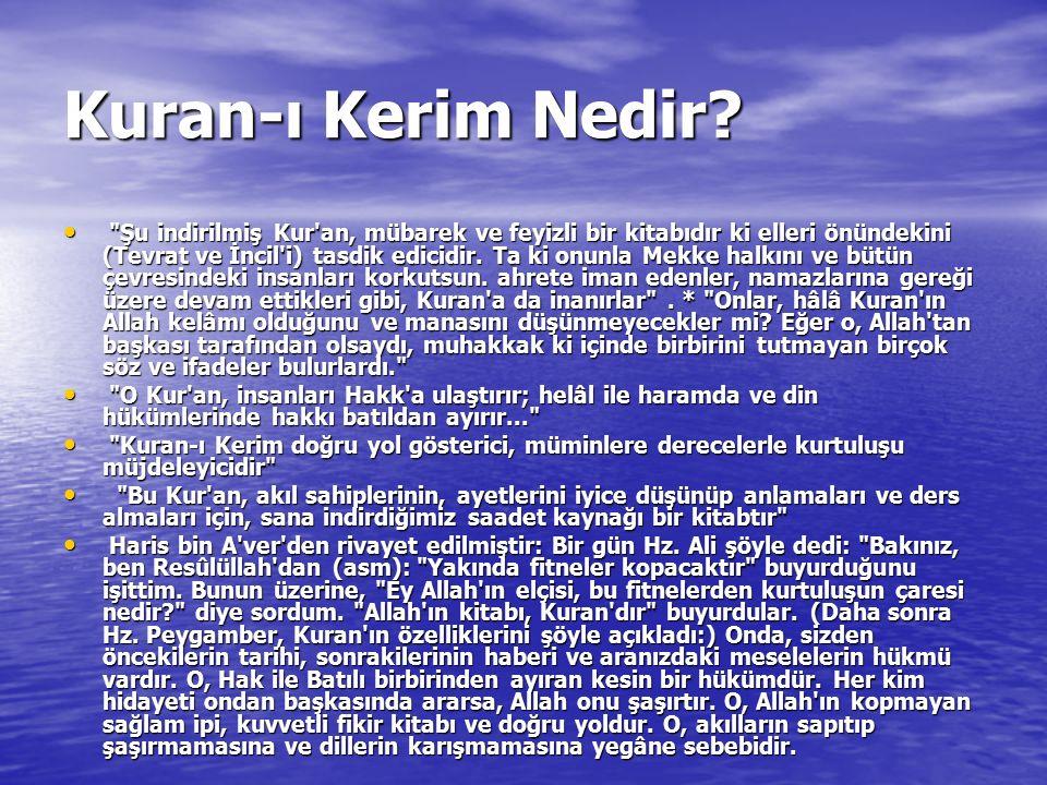 Kuran-ı Kerim Nedir.