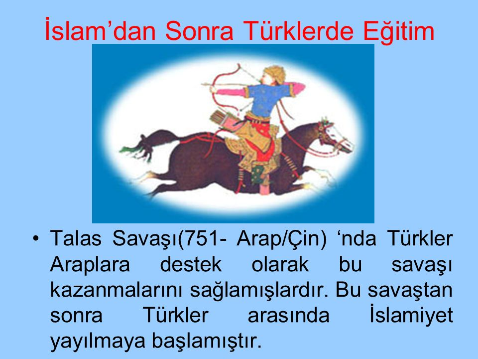 KARAHANLILAR (840) Devlet 11.yüzyılda ikiye ayrıldı.