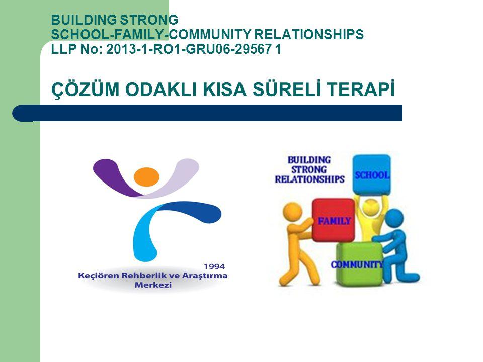 BUILDING STRONG SCHOOL-FAMILY-COMMUNITY RELATIONSHIPS LLP No: 2013-1-RO1-GRU06-29567 1 ÇÖZÜM ODAKLI KISA SÜRELİ TERAPİ