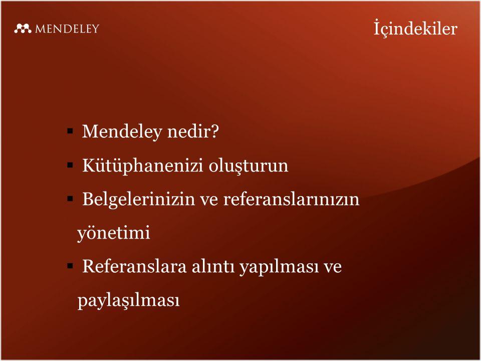 Mendeley nedir?