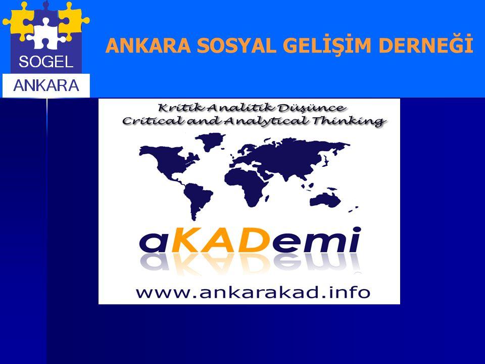 Ve Biz ; Ankara Kritik Analitik Düşünce aKADemisi olarak 12 Ekim 2007 tarihinde düşünce ve kişisel gelişim üzerine seminerlere ve yayın hayatına başladık.