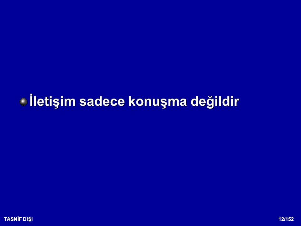 12/152TASNİF DIŞI İletişim sadece konuşma değildir