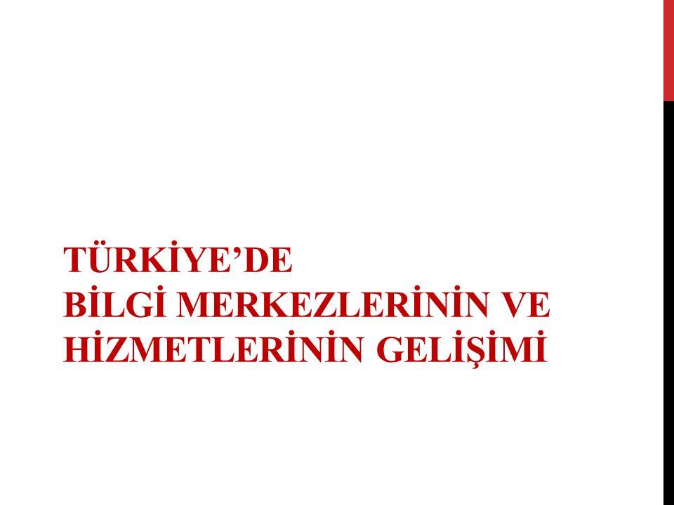 MESLEKİ EĞİTİM ÇALIŞMALARI  Yurt Dışına Öğrenci Gönderilmesi  Fehmi Ethem Karatay  Adnan Ötüken  Mesleki Eğitim Kursların Açılması  Fehmi Ethem Karatay Kursu  Adnan Ötüken Kursu  Üniversite Düzeyinde Eğitimin Başlaması  Ankara Üniversitesi DTCF Kütüphanecilik Bölümü