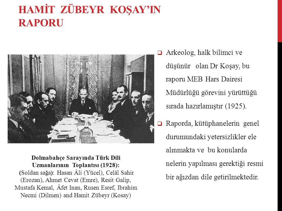  Arkeolog, halk bilimci ve düşünür olan Dr Koşay, bu raporu MEB Hars Dairesi Müdürlüğü görevini yürüttüğü sırada hazırlamıştır (1925).  Raporda, küt