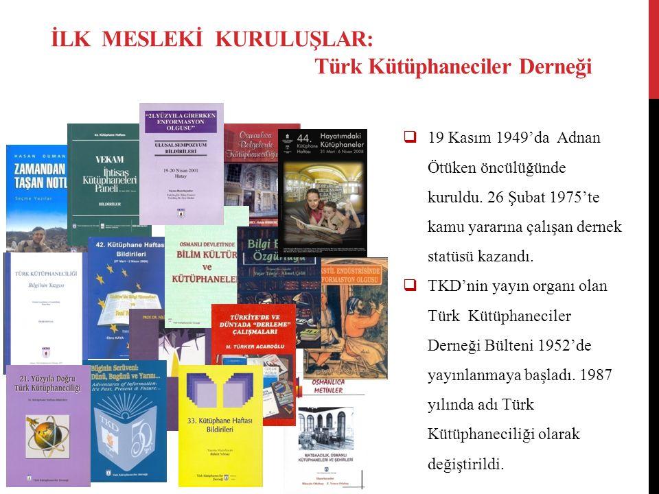  19 Kasım 1949'da Adnan Ötüken öncülüğünde kuruldu. 26 Şubat 1975'te kamu yararına çalışan dernek statüsü kazandı.  TKD'nin yayın organı olan Türk K