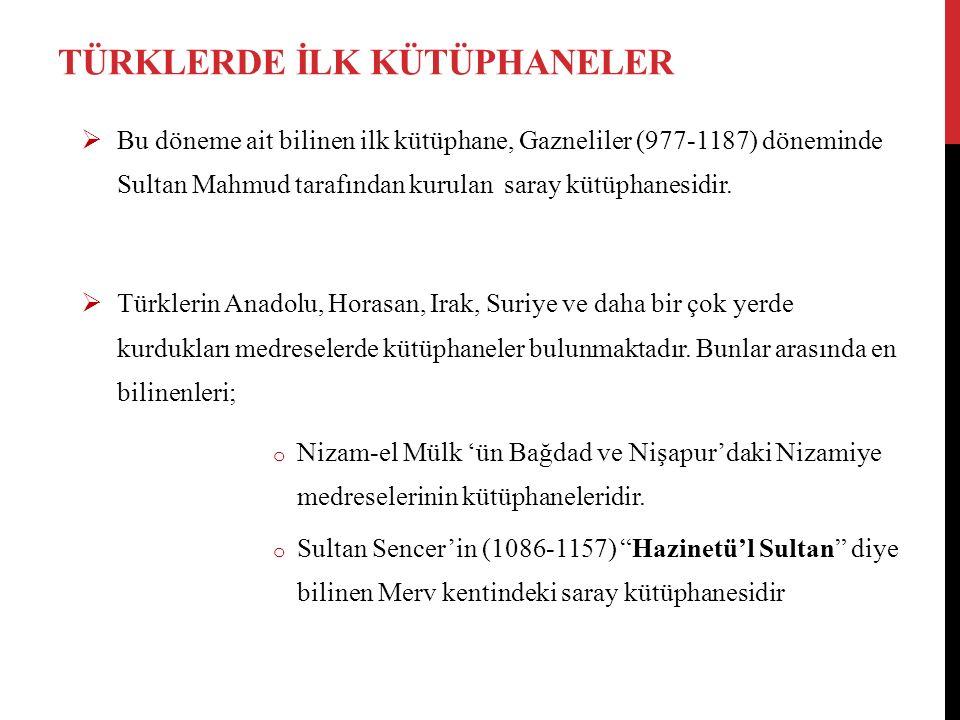  1201 yılında Konya'da kurulan Şemseddün Altun-Aba Medrese Kütüphanesi.
