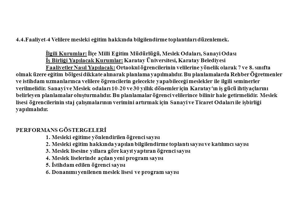 4.4.Faaliyet-4 Velilere mesleki eğitim hakkında bilgilendirme toplantıları düzenlemek.
